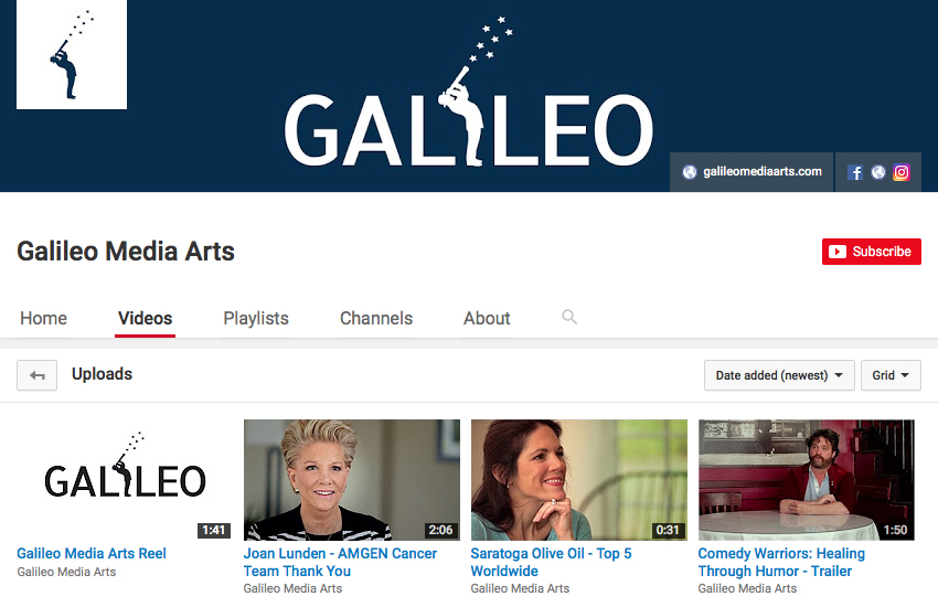 Galileo's New YouTube Channel